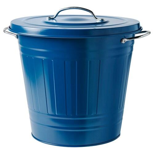 "KNODD bin with lid dark blue 12 ½ "" 13 ½ "" 4 gallon"