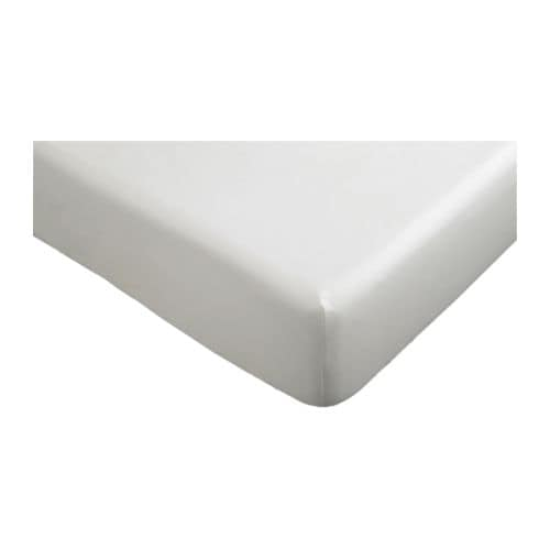 "KNOPPA Fitted sheet IKEA Fitted sheet with elastic corners.   Fits mattresses up to 10"" thick."