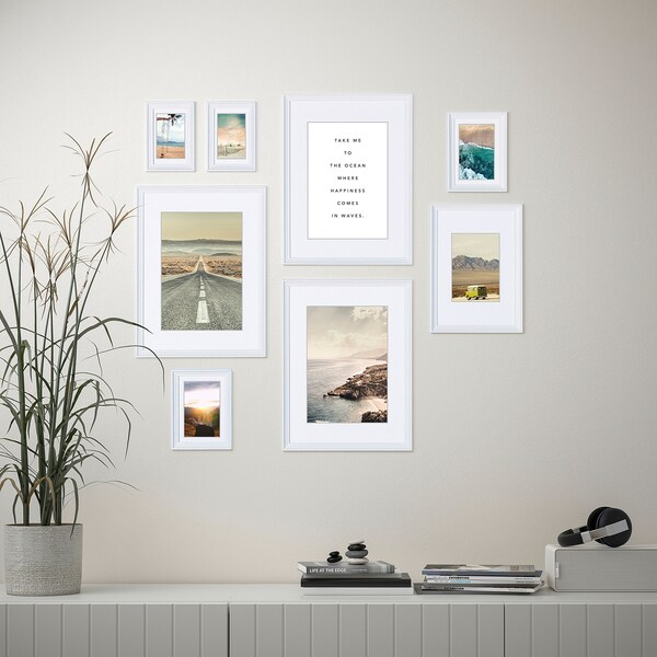KNOPPÄNG Frame with poster, set of 8, Ocean happiness