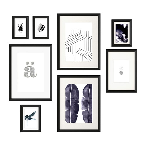 Knoppng Frame With Poster Set Of 8 Ikea