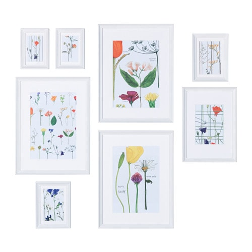 Knopp Ng Frame With Poster Set Of 8 Ikea