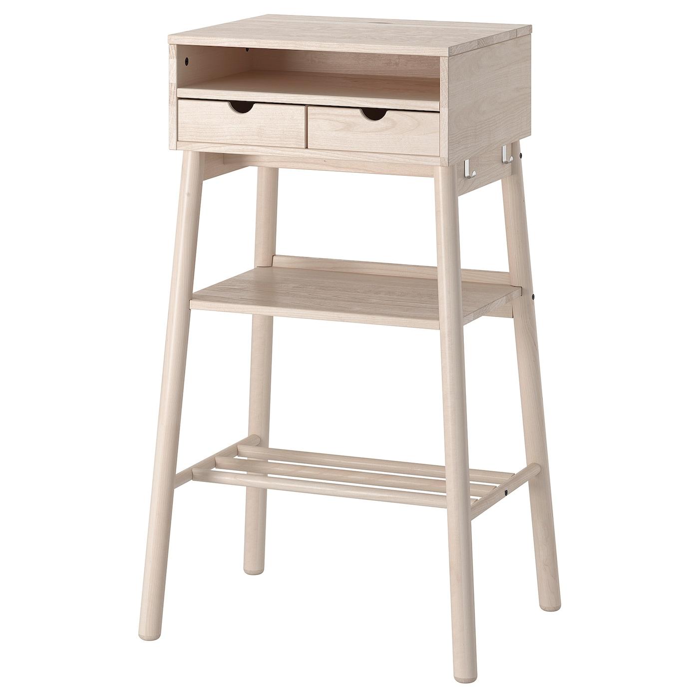 Knotten Standing Desk White Birch Ikea