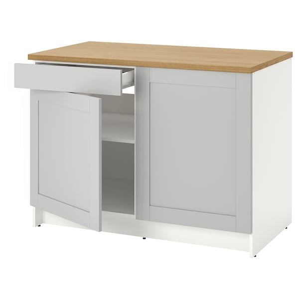 """KNOXHULT Base cabinet with doors and drawer, gray, 48x24x36 """""""