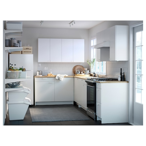 """KNOXHULT Base cabinet with doors and drawer, white, 72x24x36 """""""