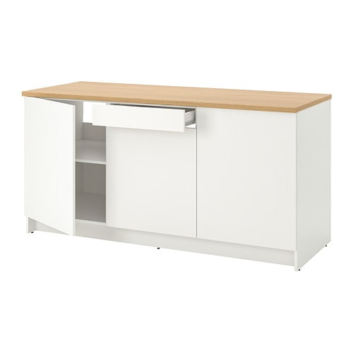 Knoxhult Base Cabinet With Doors And Drawer White