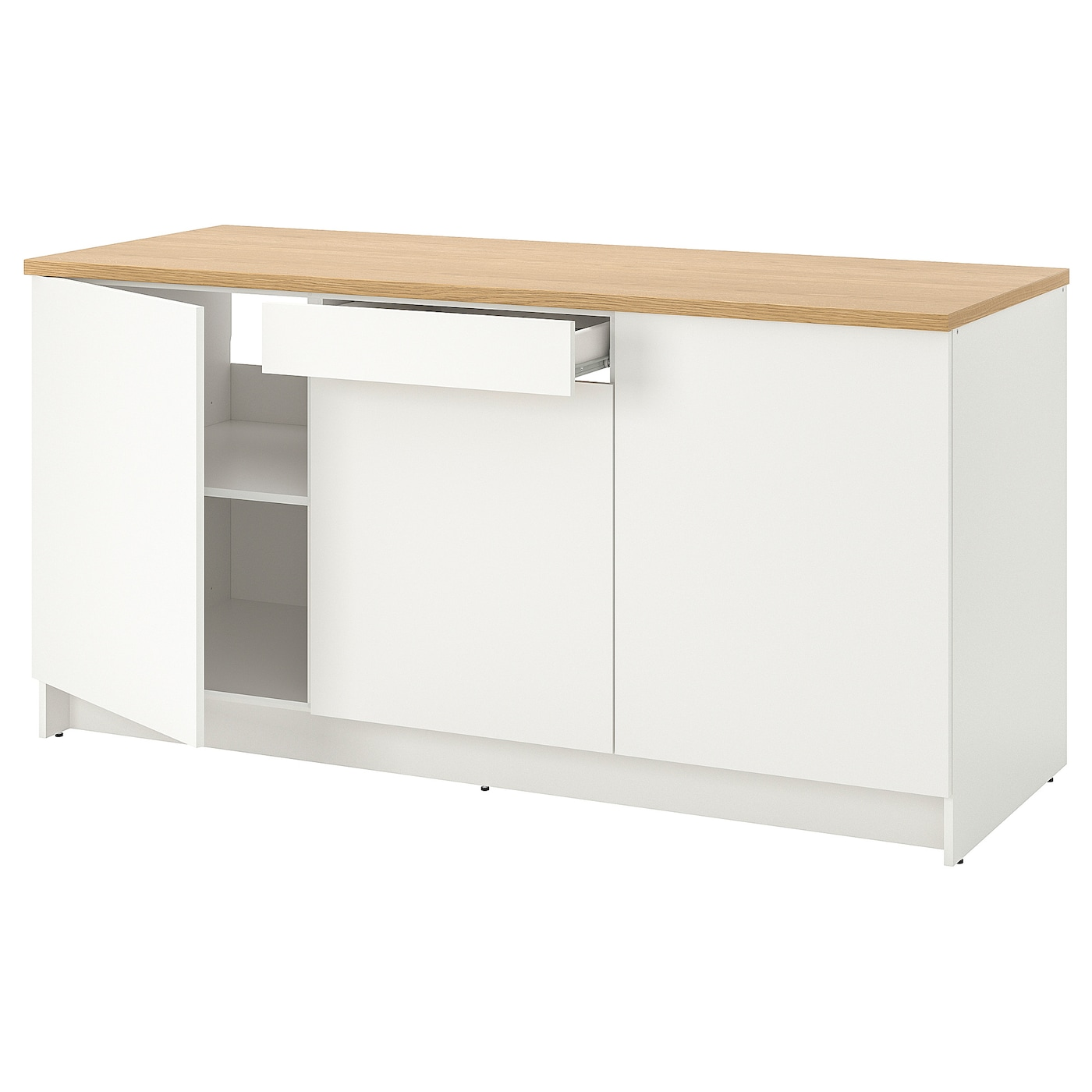KNOXHULT Base cabinet with doors and drawer, white ...