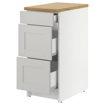 """KNOXHULT Base cabinet with drawers, gray, 15x24x36 """""""