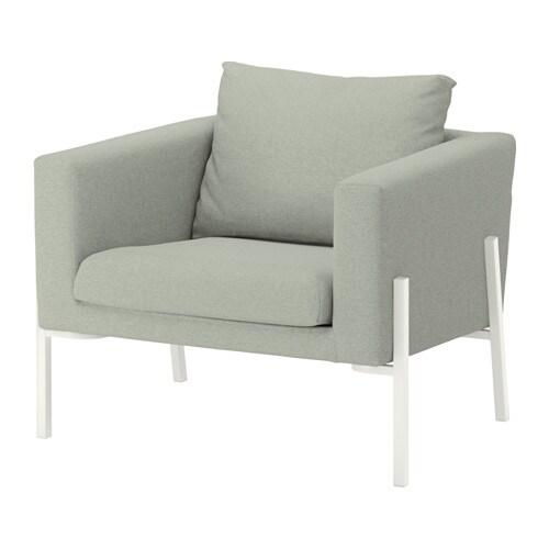 KOARP Armchair - Gunnared light green, white - IKEA
