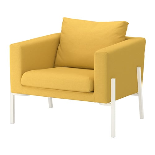 Koarp armchair orrsta golden yellow white ikea - Fauteuil jaune ikea ...