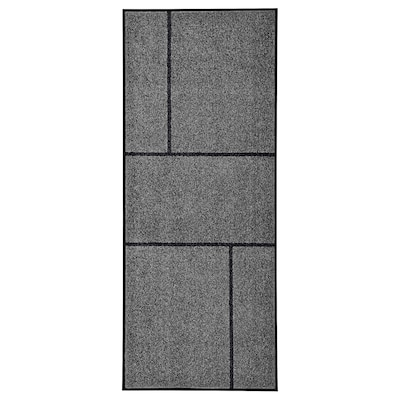 "KÖGE Door mat, gray/black, 2 ' 8 ""x6 ' 7 """