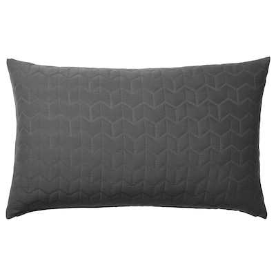 "KÖLAX Cushion cover, gray, 16x26 """