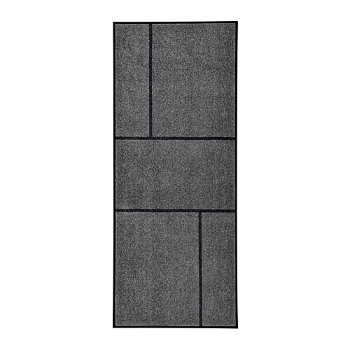 KÖGE - Door mat, gray, black