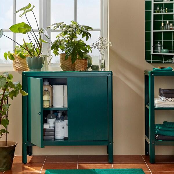 """KOLBJÖRN Cabinet, indoor/outdoor, green, 31 1/2x31 7/8 """""""