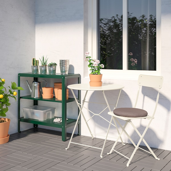 "KOLBJÖRN Shelf unit, indoor/outdoor, green, 31 1/2x31 7/8 """