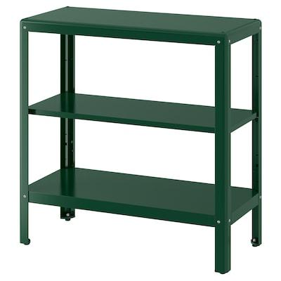 "KOLBJÖRN shelf unit, indoor/outdoor green 31 1/2 "" 13 3/4 "" 31 7/8 "" 55 lb"