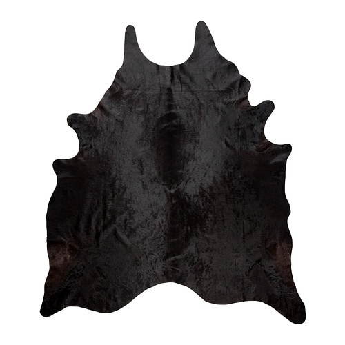 Koldby Cowhide Black White