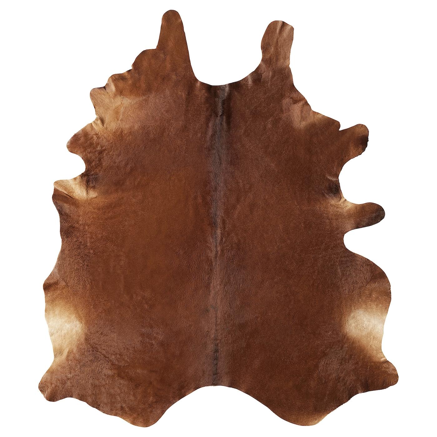 Shop KOLDBY Brown Cowhide Rug from Ikea on Openhaus