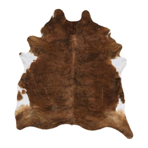 KOLDBY Cowhide, assorted patterns Max. area: 48.44 sq feet Min. area: 34.44 sq feet  Max. area: 4.50 m² Min. area: 3.20 m²