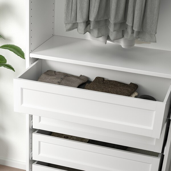 """KOMPLEMENT drawer with framed front white 29 1/2 """" 13 3/4 """" 26 3/4 """" 13 3/8 """" 6 1/4 """" 25 5/8 """" 12 """""""