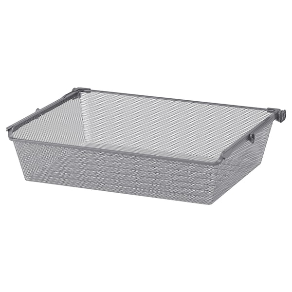 """KOMPLEMENT Mesh basket with pull-out rail, dark gray, 29 1/2x22 7/8 """""""