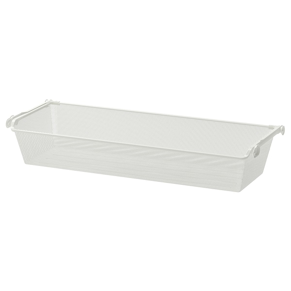 """KOMPLEMENT Mesh basket with pull-out rail, white, 39 3/8x13 3/4 """""""