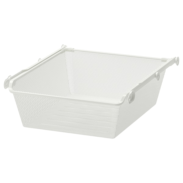 """KOMPLEMENT mesh basket with pull-out rail white 18 1/8 """" 19 5/8 """" 21 """" 6 1/4 """" 22 7/8 """" 33 lb"""