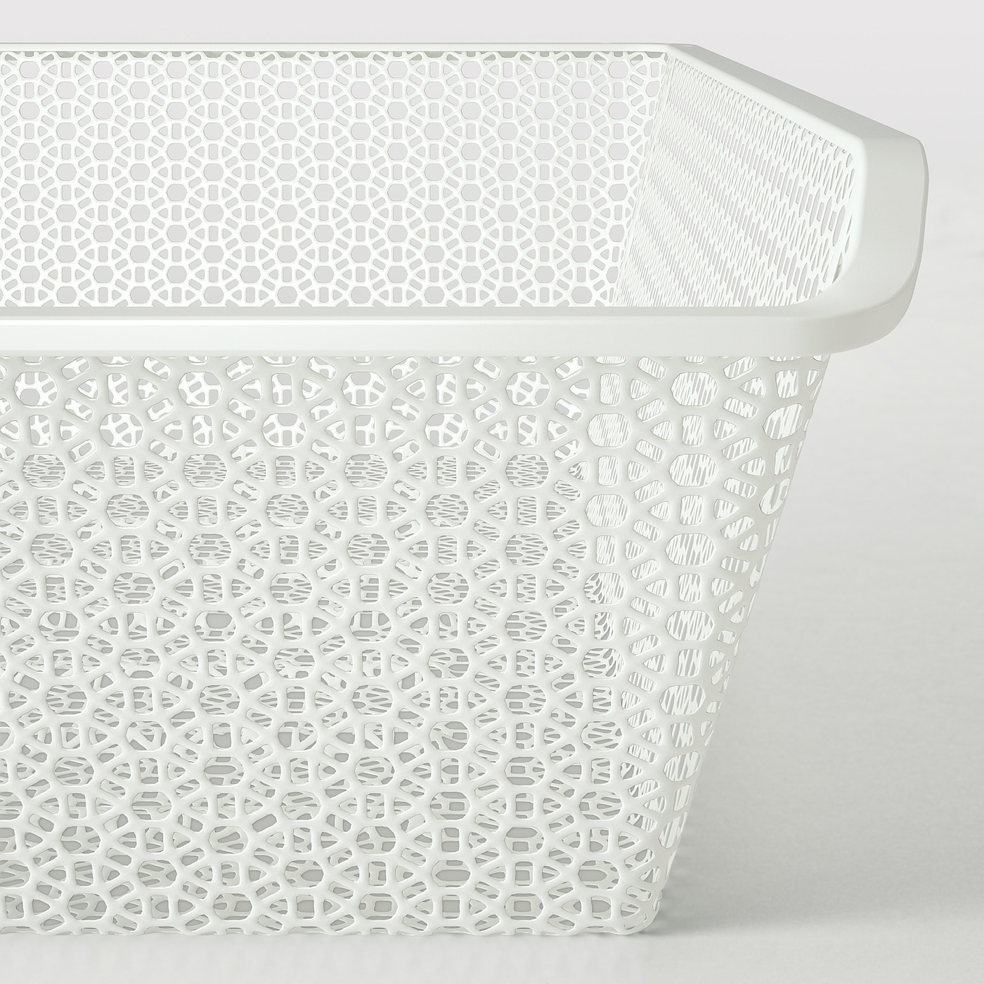 KOMPLEMENT Metal basket, patterned/white, 39 3/8x22 7/8 ""