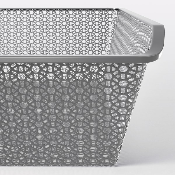 """KOMPLEMENT Metal basket with pull-out rail, dark gray, 29 1/2x22 7/8 """""""