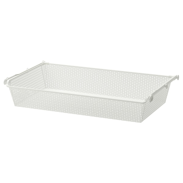 """KOMPLEMENT Metal basket with pull-out rail, white, 39 3/8x22 7/8 """""""