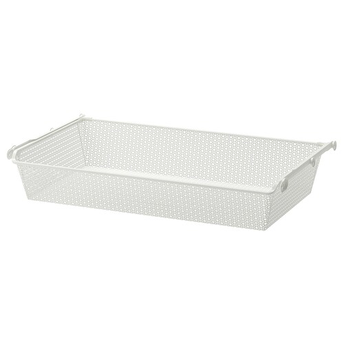 "KOMPLEMENT metal basket with pull-out rail white 38 "" 39 3/8 "" 21 "" 6 1/4 "" 22 7/8 "" 33 lb"