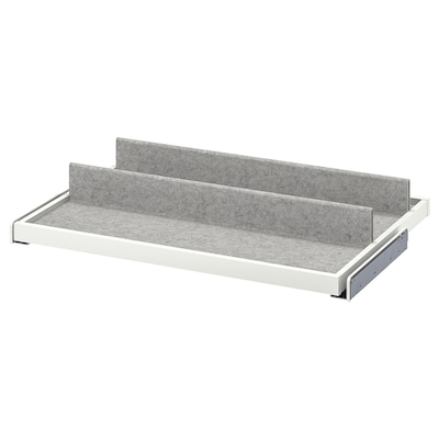 KOMPLEMENT Pull-out tray with shoe insert, white/light gray, 29 1/2x22 7/8 ""