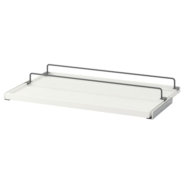 """KOMPLEMENT pull-out tray with shoe rail white/dark gray 38 """" 39 3/8 """" 22 1/8 """" 2 3/4 """" 22 7/8 """" 22 lb 1 oz"""