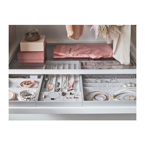 Komplement storage with 4 compartments ikea - Meuble a bijoux ikea ...