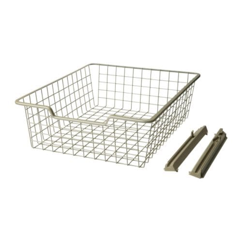 KOMPLEMENT Wire basket IKEA Convenient storage for folded clothes.  Pulls out for easy overview and access to contents.