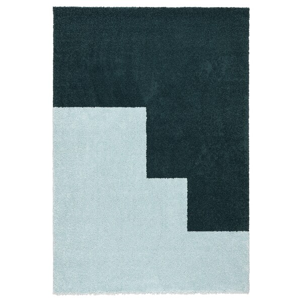 "KONGSTRUP Rug, high pile, light blue/green, 4 ' 4 ""x6 ' 5 """