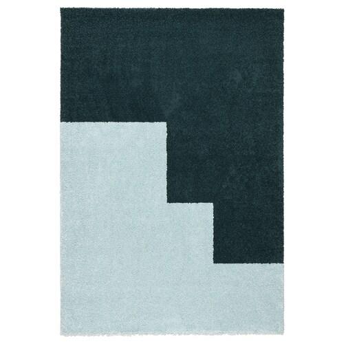 """KONGSTRUP rug, high pile light blue/green 6 ' 5 """" 4 ' 4 """" ¾ """" 27.88 sq feet 8.19 oz/sq ft 4.88 oz/sq ft ½ """""""