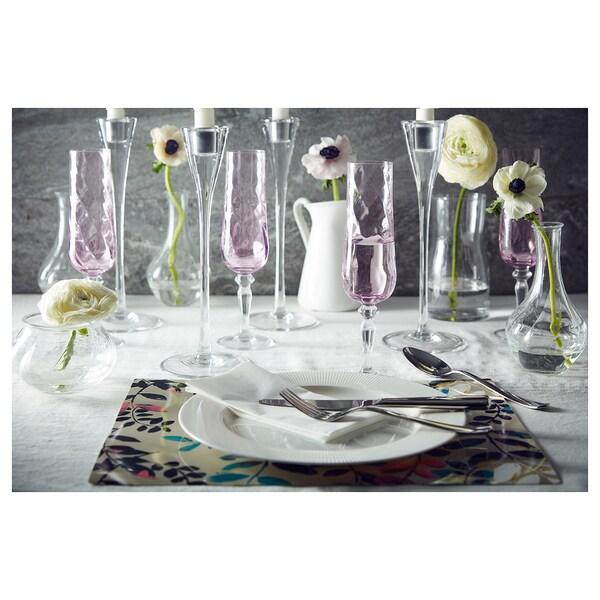 KONUNGSLIG Champagne flute, pink, 9 oz