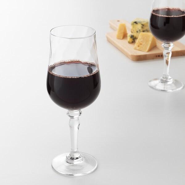 KONUNGSLIG Wine glass, clear glass, 14 oz