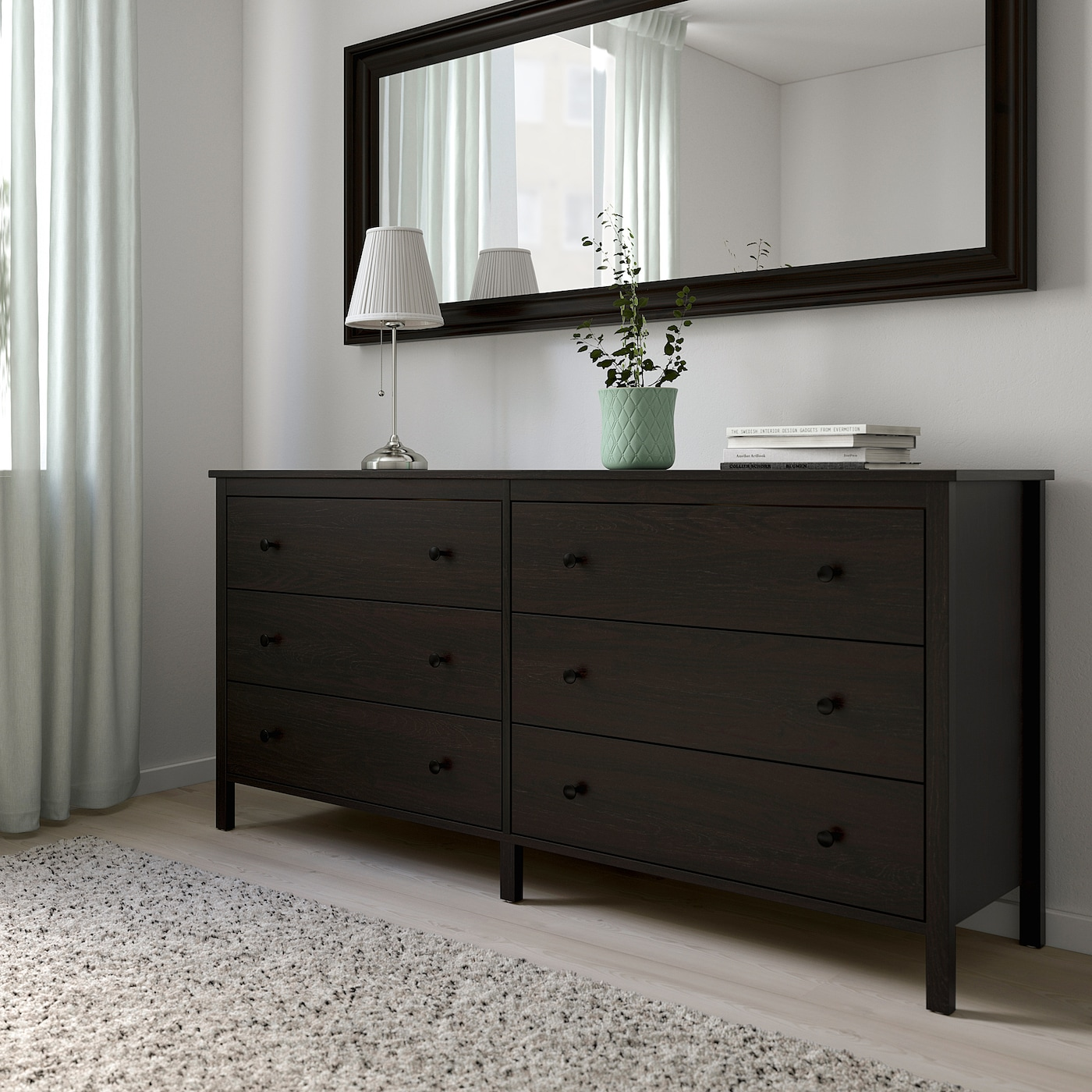 Koppang 6 Drawer Dresser Black Brown