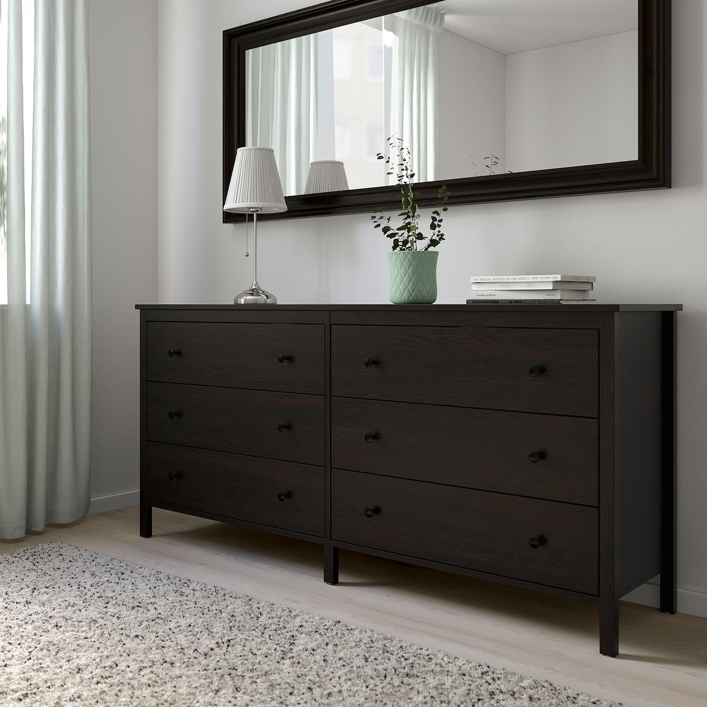 Koppang 6 Drawer Dresser Black Brown