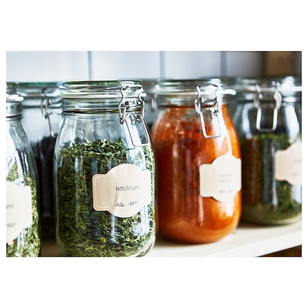 """KORKEN jar with lid clear glass 8 """" 4 7/8 """" 1.9 qt"""