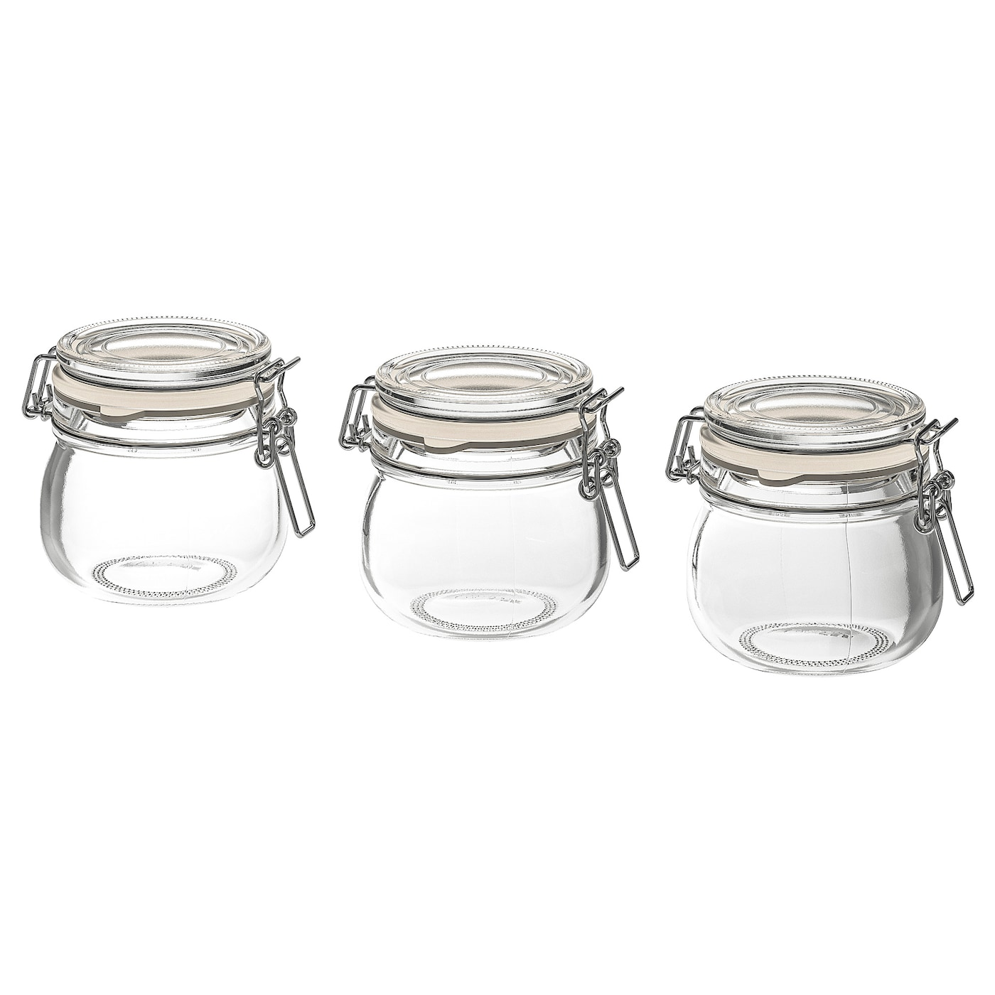 KORKEN Mason Jar with Lid Clear Glass Food Storage with Rubber Seal IKEA