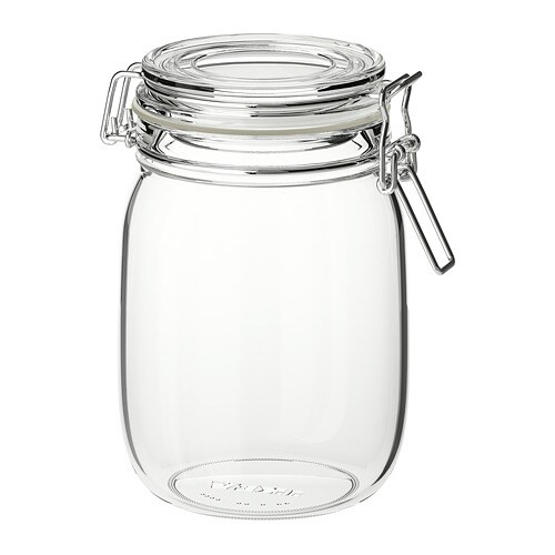 be09c8352165 KORKEN - Jar with lid, clear glass