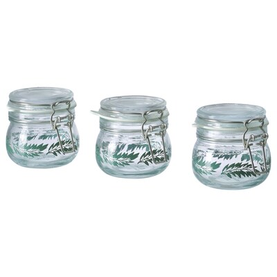 "KORKEN jar with lid 2 ¾ "" 2 ¾ "" 4 oz 3 pack"