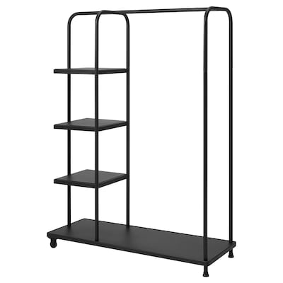 KORNSJÖ Clothes rack, black, 47 1/4x17 3/4x63 ""