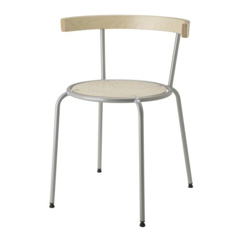 KORPO Chair with armrests IKEA Can be hung by the armrests on the table top; makes cleaning easy.  The armrest can also be used for hanging things on.