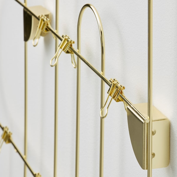 KORSMON Memo board with clips, gold