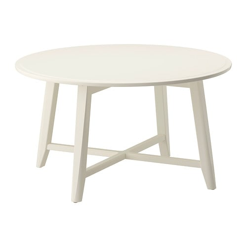 Kragsta coffee table white ikea for Table gigogne ikea