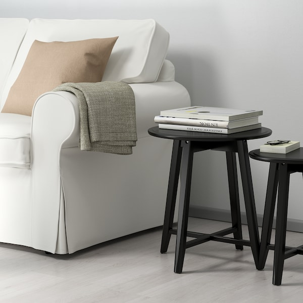 KRAGSTA nesting tables, set of 2 black