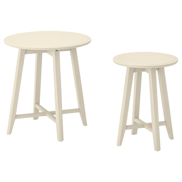 KRAGSTA Nesting tables, set of 2, light beige
